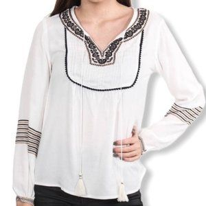 DEX Embroidered Boho / Peasant / Festival Top S